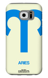 Aries Zodiac Sign Blue Galaxy S6 Case by  NaxArt