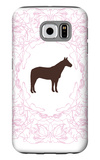 Pink Stallion Galaxy S6 Case by  Avalisa