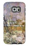 Snow in Rue Carcel Galaxy S6 Edge Case by Paul Gauguin