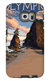 Kalaloch Beach - Olympic National Park, Washington Galaxy S6 Edge Case by  Lantern Press