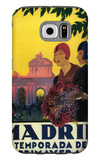 Madrid, Spain - Madrid in Springtime Travel Promotional Poster Galaxy S6 Case by  Lantern Press