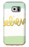 Believe Gold Galaxy S6 Case by Linda Woods