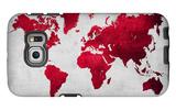 World  Map 9 Galaxy S6 Edge Case by  NaxArt