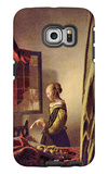 Girl at the Open Window Galaxy S6 Edge Case by Jan Vermeer