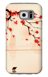 Oriental Style Painting, Plum Blossom In Spring Galaxy S6 Case by  ori-artiste