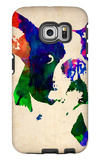 Boston Terrier Watercolor Galaxy S6 Edge Case by  NaxArt