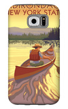 The Adirondacks, New York State - Canoe Scene Galaxy S6 Case by  Lantern Press