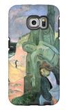 Green Christ Galaxy S6 Edge Case by Paul Gauguin