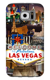 Las Vegas Casinos and Hotels Montage Galaxy S6 Case by  Lantern Press