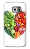 Green And Red Healthy Food Galaxy S6 Case by  ifong