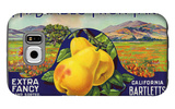 Bancroft, California, Mt. Diablo Fruit Farm Brand Pear Label Galaxy S6 Case by  Lantern Press