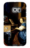 Dame on Spinet Galaxy S6 Edge Case by Jan Vermeer