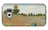Poppy Field, Near Argenteuil, c.1873 Galaxy S6 Case by Claude Monet