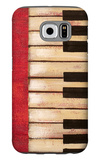 Piano Keys Galaxy S6 Case by  Hakimipour-ritter