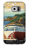 California Highway One Coast VW Van Galaxy S6 Case by  Lantern Press