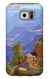 Grand Canyon National Park - Bright Angel Trail Galaxy S6 Case by  Lantern Press
