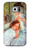 Young Mother Sewing Galaxy S6 Case by Mary Cassatt