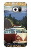 Lake Tahoe, California - VW Coastal Drive Galaxy S6 Case by  Lantern Press
