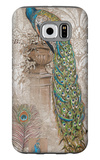 Peacock on Linen 2 Galaxy S6 Case by Chad Barrett