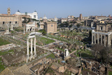 View of the Roman Forum (Foro Romano) from the Palatine Hill, Rome, Lazio, Italy Fotodruck von Stuart Black