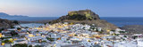 White Rooftops of Lindos with the Acropolis of Lindos, Rhodes, Dodecanese, Greek Islands, Greece Photographic Print by Chris Hepburn