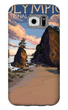 Kalaloch Beach - Olympic National Park, Washington Galaxy S6 Case by  Lantern Press