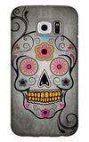 Sugar Skull Galaxy S6 Case by  Lantern Press