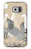 Winter Wolf Howling Galaxy S6 Case by  Lantern Press
