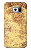 Vintage Map Western Galaxy S6 Case by Malcolm Watson