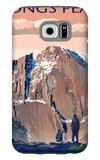 Longs Peak - Rocky Mountain National Park Galaxy S6 Case by  Lantern Press