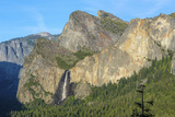 Cathedral Rocks East and Bridalveil Fall from Tunnel View in Yosemite National Park Photographic Print by Chris Hepburn