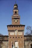 The Torre Del Filarete Clock Tower at the 15th Century Sforza Castle (Castello Sforzesco) Photographic Print by Stuart Forster