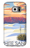White Sands National Monument, New Mexico - Sunset Scene Galaxy S6 Case by  Lantern Press