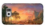 The Oregon Trail Galaxy S6 Case by Albert Bierstadt