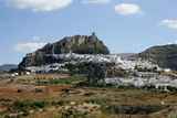 View over Zahara Village at Parque Natural Sierra De Grazalema, Andalucia, Spain, Europe Photographic Print by Yadid Levy