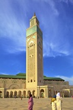 Exterior of Hassan Ll Mosque, Casablanca, Morocco, North Africa, Africa Photographic Print by Neil Farrin