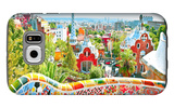 The Famous Summer Park Guell Over Bright Blue Sky In Barcelona, Spain Galaxy S6 Case by  Vladitto