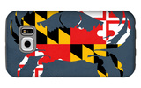 Maryland - Crab Flag - No Text Galaxy S6 Case by  Lantern Press