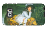 A Young Woman in a Boat Galaxy S6 Edge Case by James Tissot