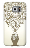Human Head And Icons Of Science Galaxy S6 Case by  VLADGRIN
