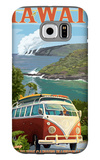 VW Van - Hawaii Volcanoes National Park Galaxy S6 Case by  Lantern Press