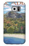 Acadia National Park, Maine - Sand Beach Scene Galaxy S6 Case by  Lantern Press