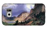 Storm in the Rockies, Mt. Rosalie Galaxy S6 Case by Albert Bierstadt