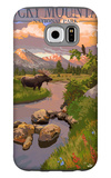 Moose and Meadow - Rocky Mountain National Park Galaxy S6 Case by  Lantern Press