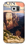 Zion National Park - Zion Canyon Sunset Galaxy S6 Case by  Lantern Press