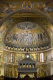 Mosaics Inside the Church of Santa Maria in Trastevere Photographic Print by Stuart Black