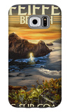 Pfeiffer Beach, California Galaxy S6 Case by  Lantern Press