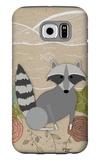 Spring Time Raccoon Galaxy S6 Case by  Lantern Press