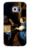 Dame on Spinet Galaxy S6 Case by Jan Vermeer
