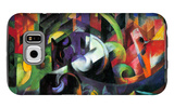 Abstract with Cattle Galaxy S6 Case by Franz Marc